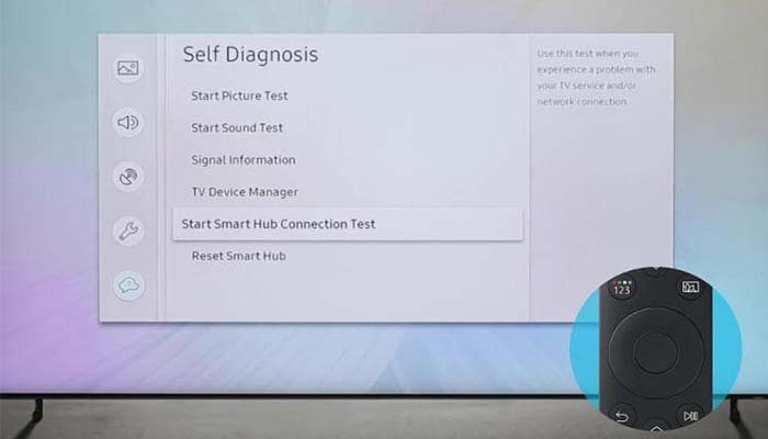 fungsi self diagnosis pada smart tv