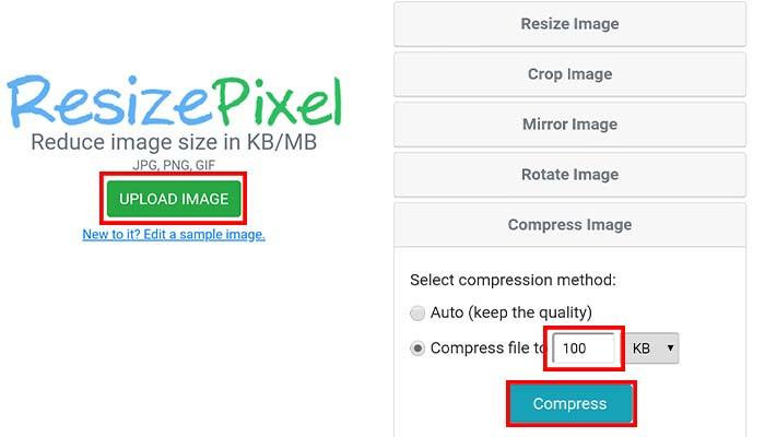 cara mengubah ukuran gambar menjadi 100kb